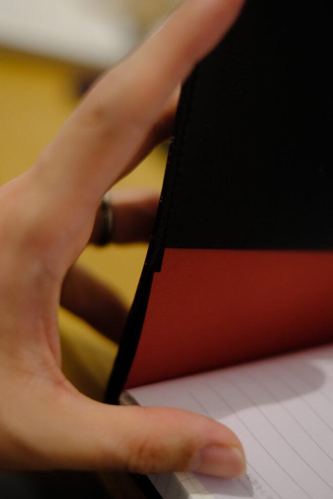 紳士なノートを工作-挿入